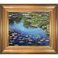 Tori Home Water Lilies by Claude Monet Framed Painting ...