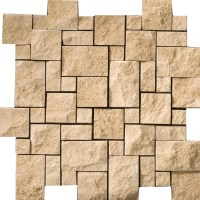 "Emser Tile Travertine 12"" x 12 Splitface Versailles Mosaic ..."