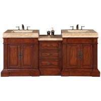 """Silkroad Exclusive Stanton 83"""" Double Bathroom Vanity Set"""