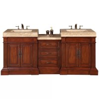 """Silkroad Exclusive Stanton 83"""" Double Bathroom Vanity Set ..."""