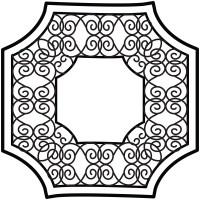 WallPops! Garden Ceiling Medallion Decal | Wayfair