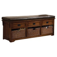 Wildon Home  Upland Wooden Entryway Storage Bench ...