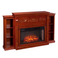 Wildon Home  Langley Bookcase Electric Fireplace ...