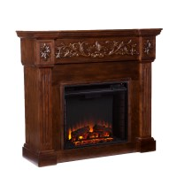 Wildon Home  Oakley in Espresso Electric Fireplace ...