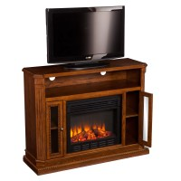 Wildon Home  Delaney TV Stand with Electric Fireplace ...
