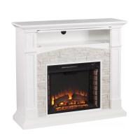 Wildon Home  Sheldon Faux Stone Media Electric Fireplace ...