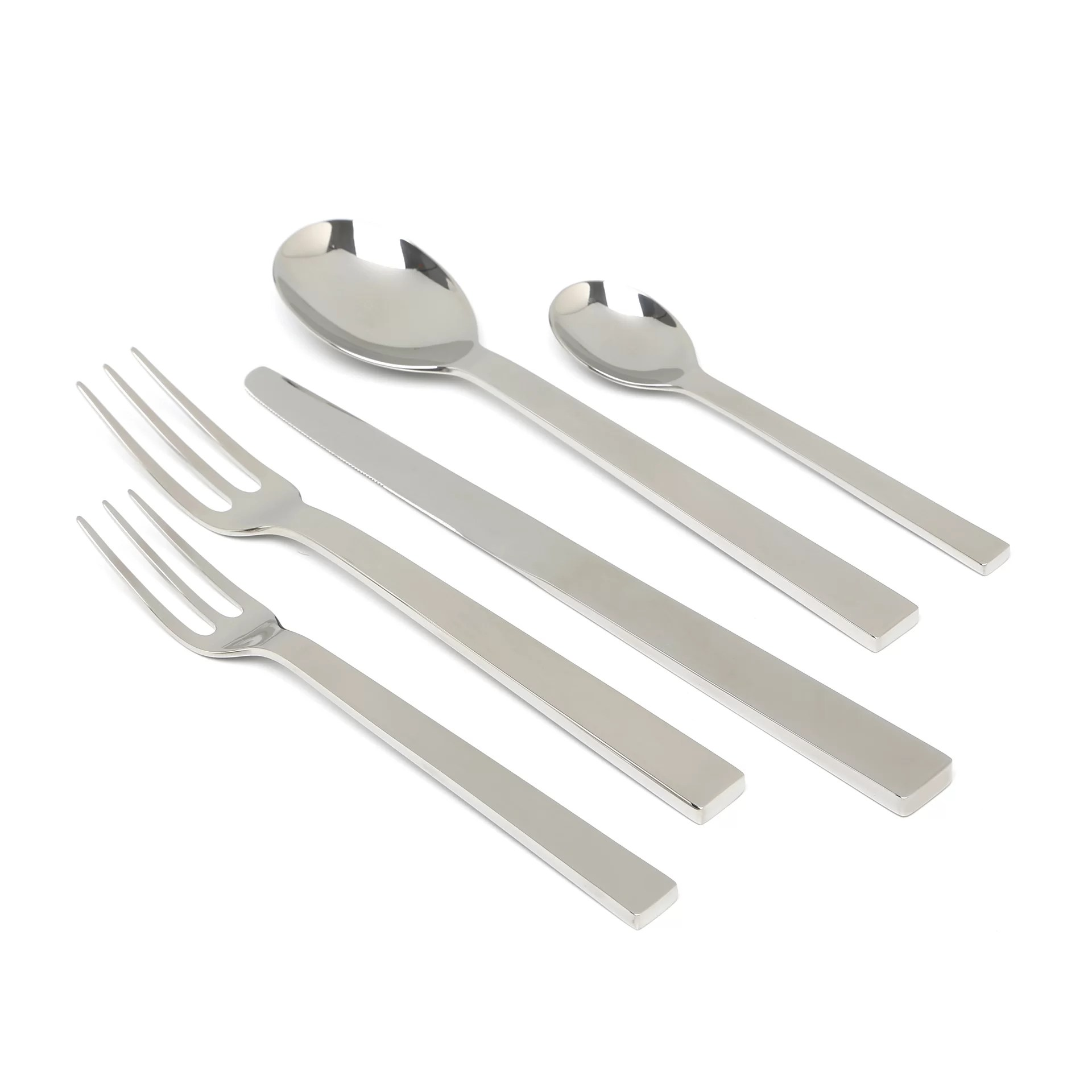 Alessi Silverware Alessi David Chipperfield Santiago 5 Piece Flatware Set