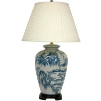 """Oriental Furniture Chinese Landscape Oriental 29"""" H Table ..."""