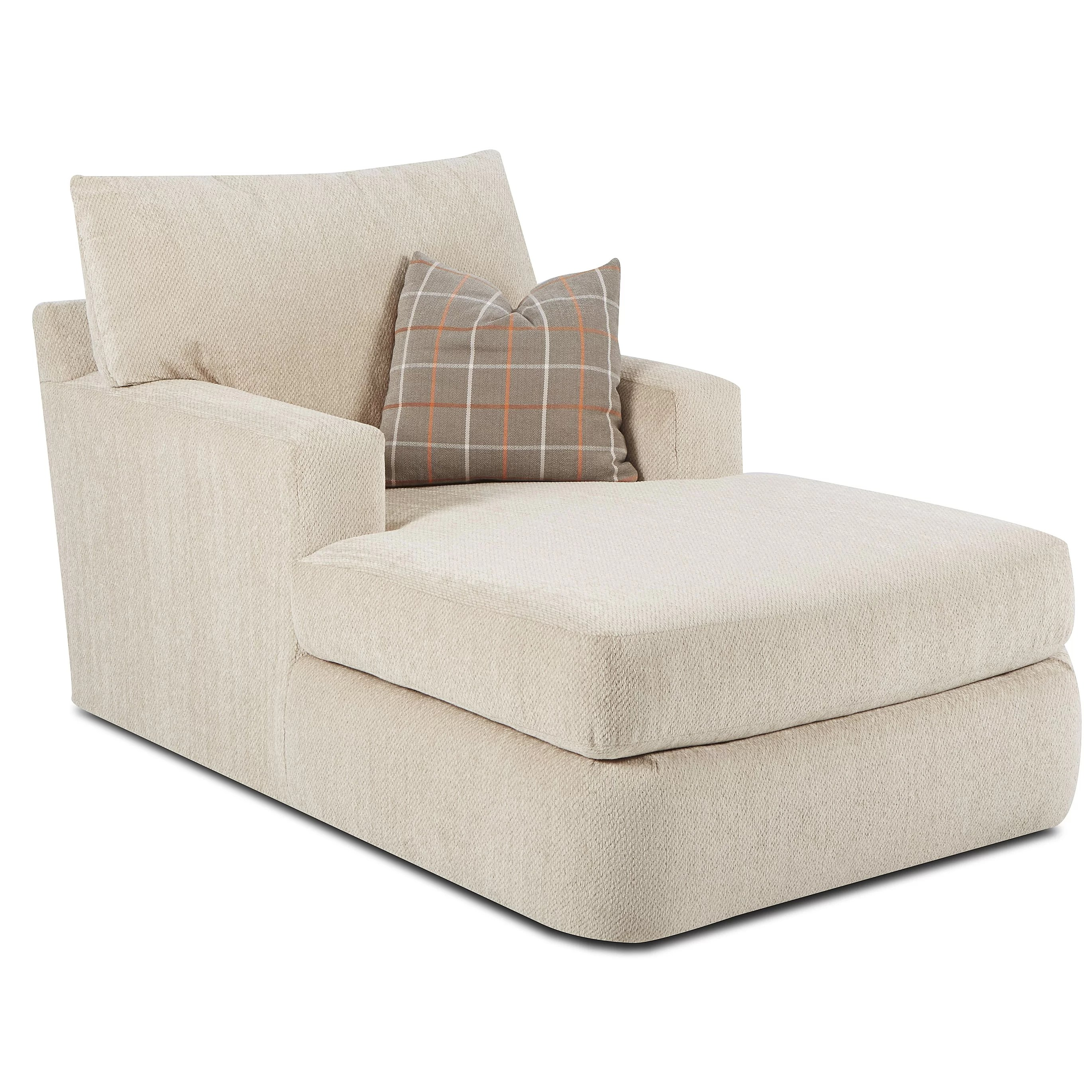 Chaise Chair Klaussner Furniture Simms Chaise Lounge And Reviews Wayfair