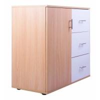 Merax 3 Drawer and 1 Shelf Storage Cabinet | Wayfair