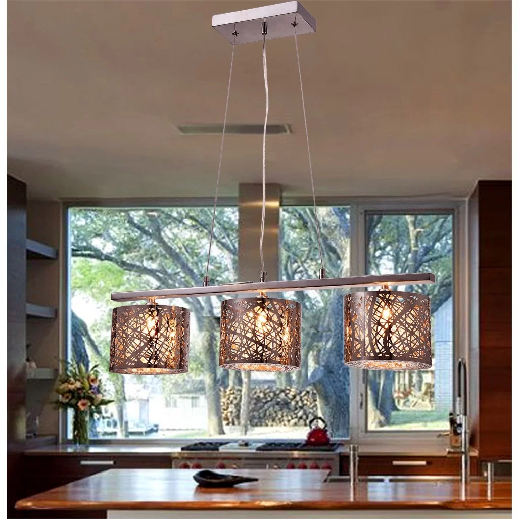 Black Kitchen Island Lighting Warehouse Of Tiffany Avery 3 Light Kitchen Island Pendant