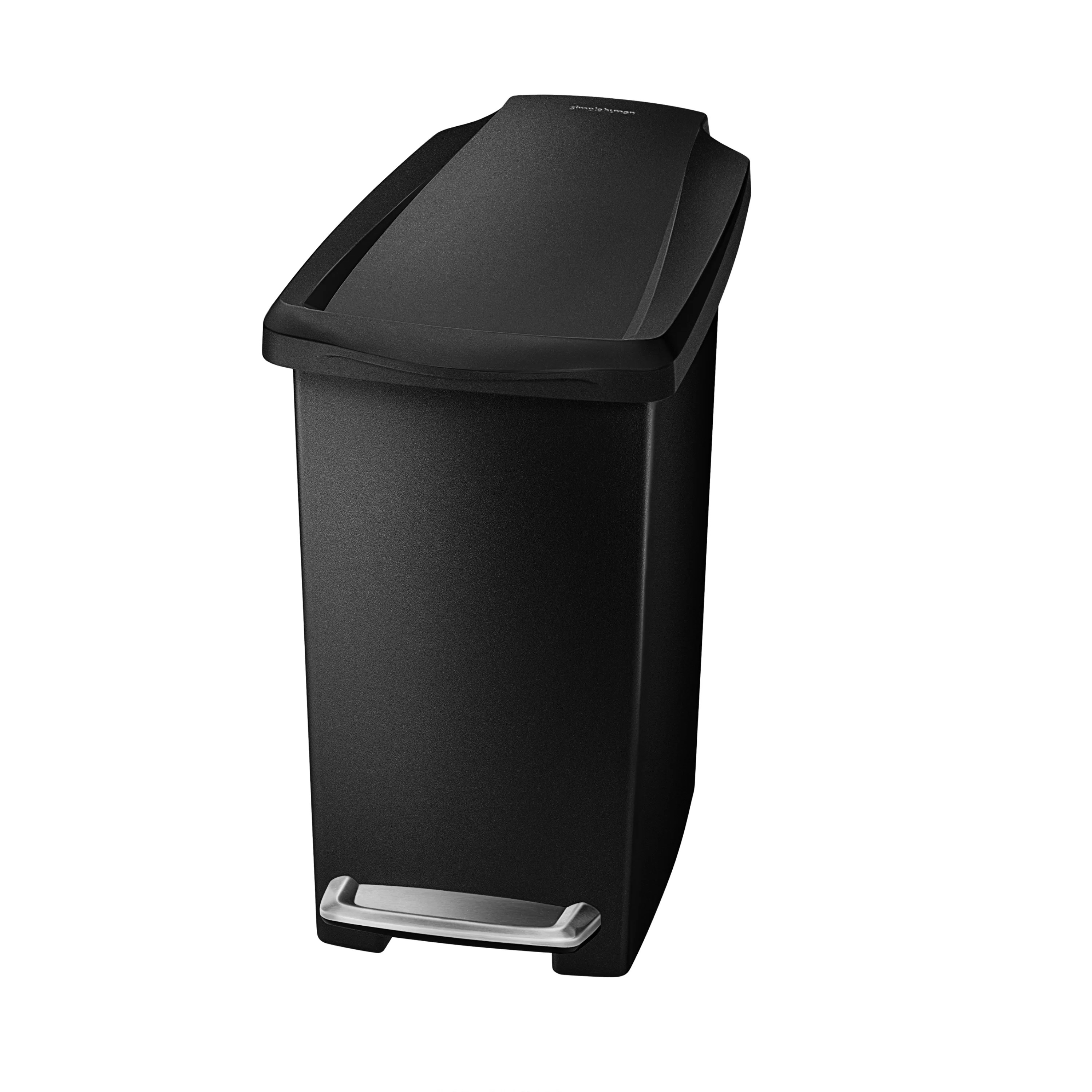 Narrow Kitchen Trash Can Simplehuman 2 6 Gallon Step On Plastic Trash Can And Reviews