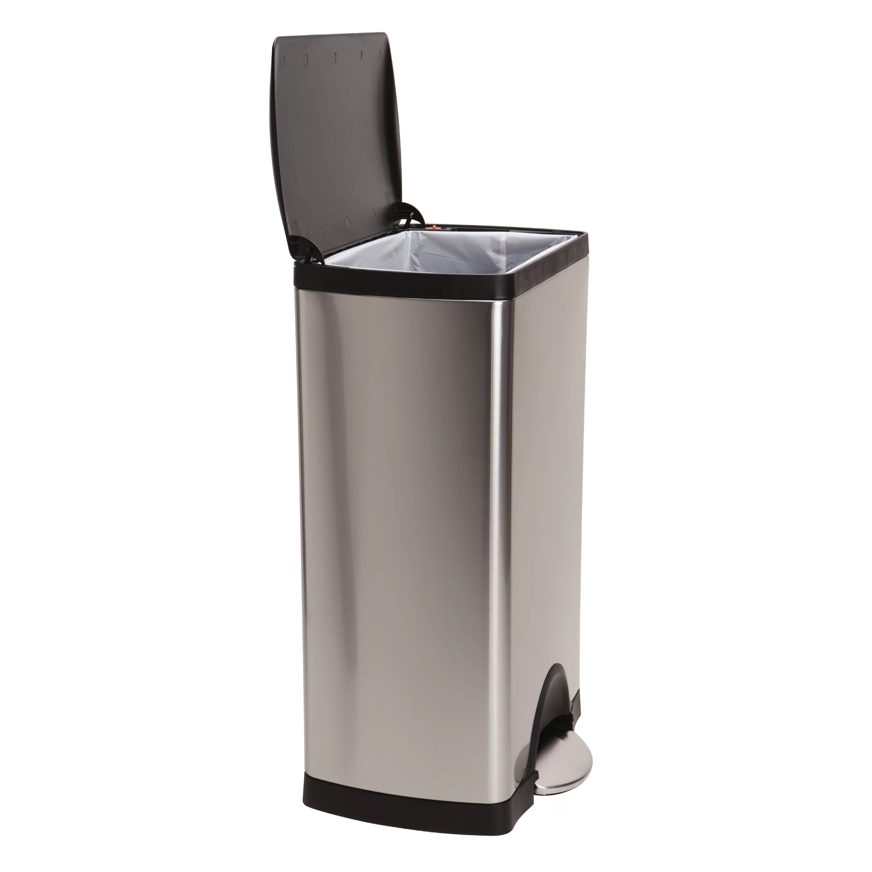 Rvs Vuilnisbak Simplehuman 10 Gal Stainless Steel Trash Can With Liner