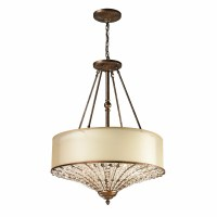 Elk Lighting Crystal Spring 4 Light Drum Pendant
