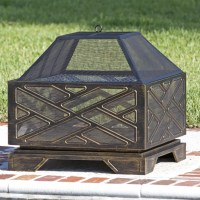 Fire Sense Catalano Square Fire Pit & Reviews | Wayfair.ca