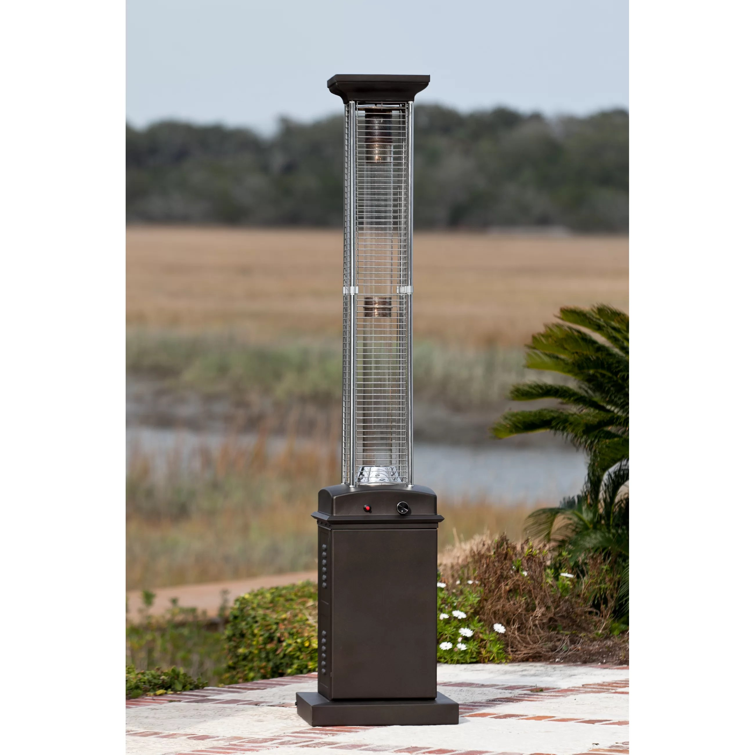 Fire Sense Flame Propane Patio Heater Reviews Wayfair