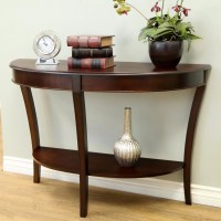 Three Posts Hickory Half - Round Console Table & Reviews ...
