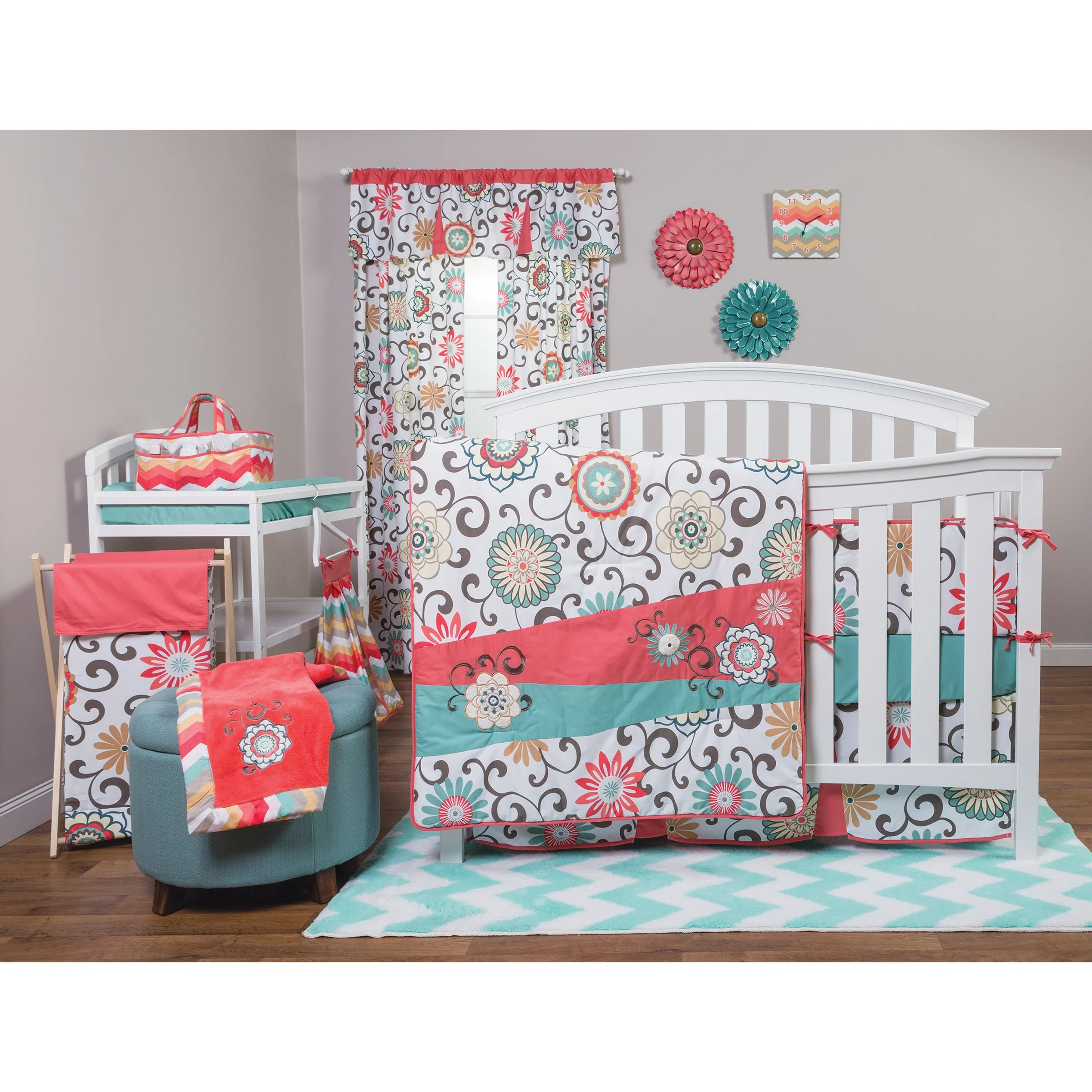Pom Pom Bedding Trend Lab Pom Pom Play 4 Piece Crib Bedding Set And Reviews
