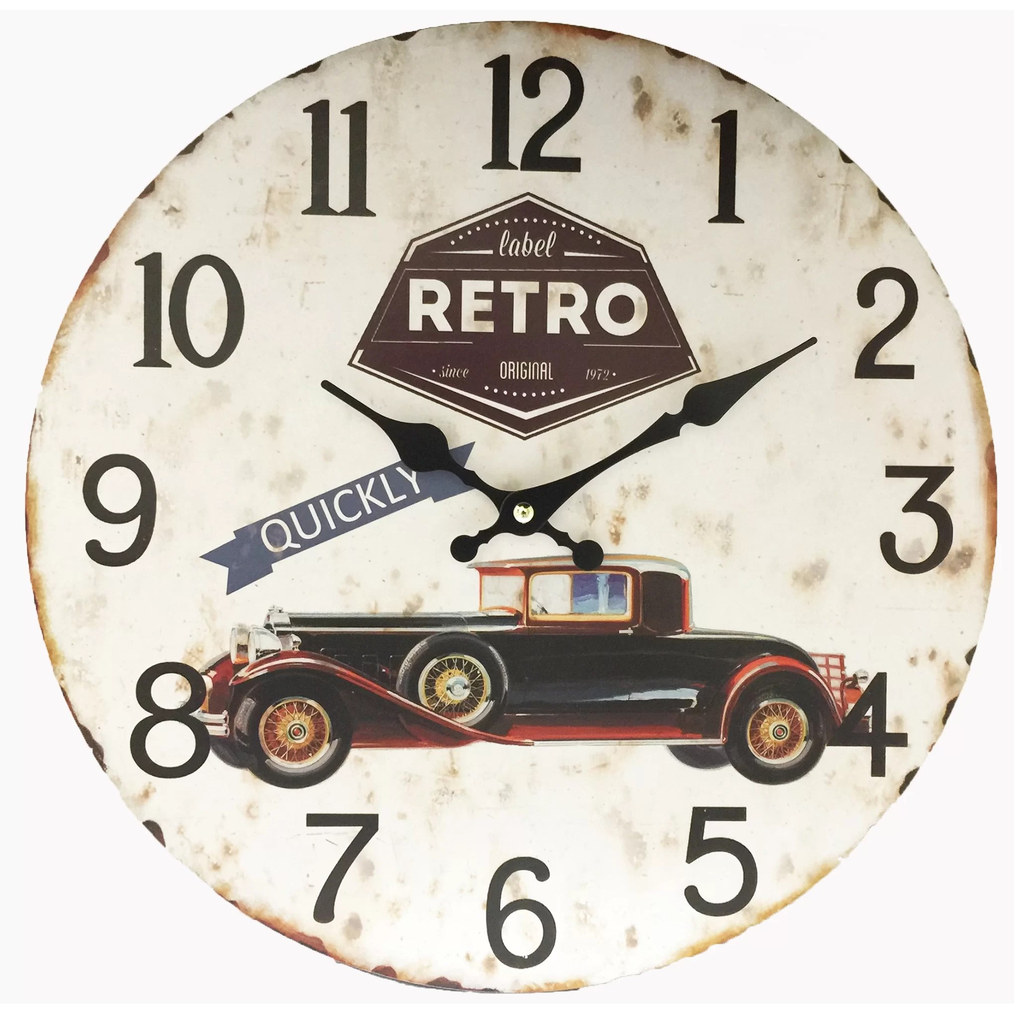 Classical Wall Clocks Creative Motion 13 Quot Classic Car Wall Clock Wayfair