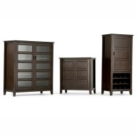 Simpli Home Burlington 2 Door Low Storage Cabinet ...