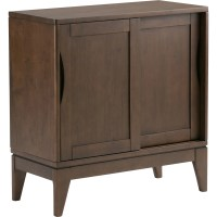 Simpli Home Harper Low Storage 2 Door Cabinet | Wayfair