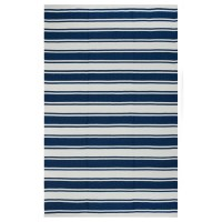 Fab Rugs Lucky Blue/White Striped Indoor/Outdoor Area Rug ...