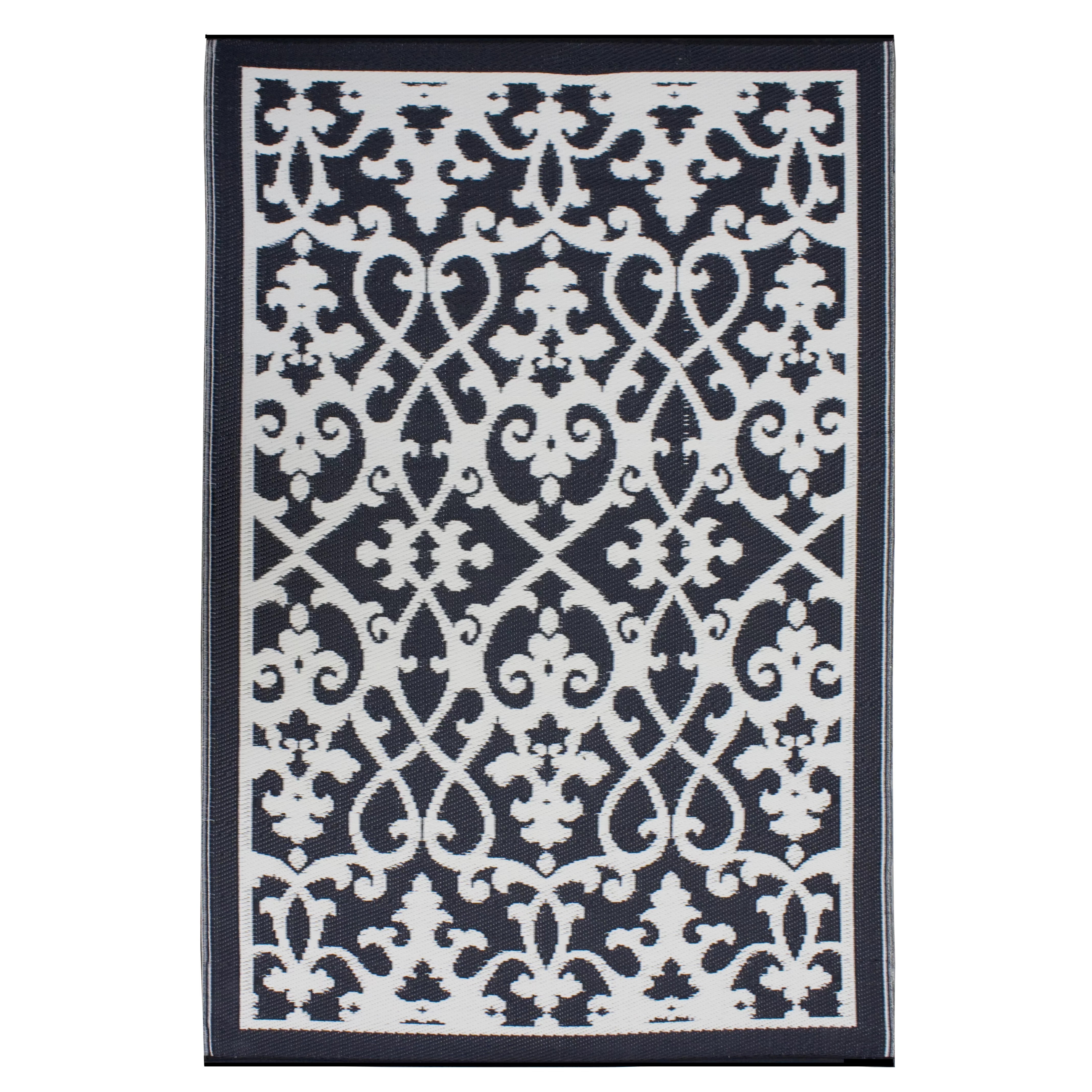 Tapis Exterieur Kilim Fab Rugs World Venice Cream And Black Indoor Outdoor Area