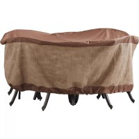 Duck Covers Ultimate Round Patio Table & Chairs Cover ...