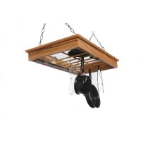 Laurel Highlands Woodshop Hanging Pot Rack with Lights ...