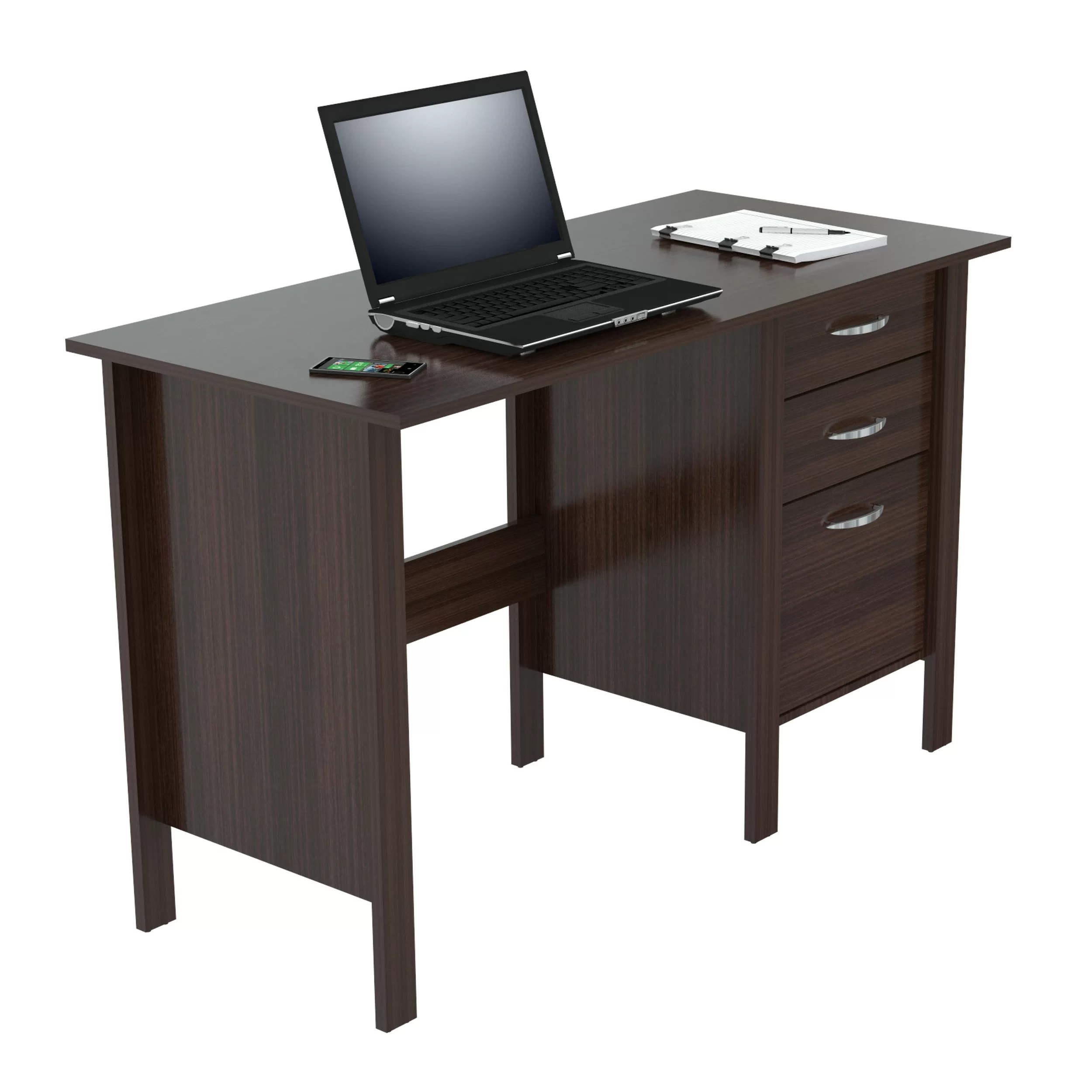 Computer Desk With Drawers Inval Computer Desk With 3 Drawers And Reviews Wayfair