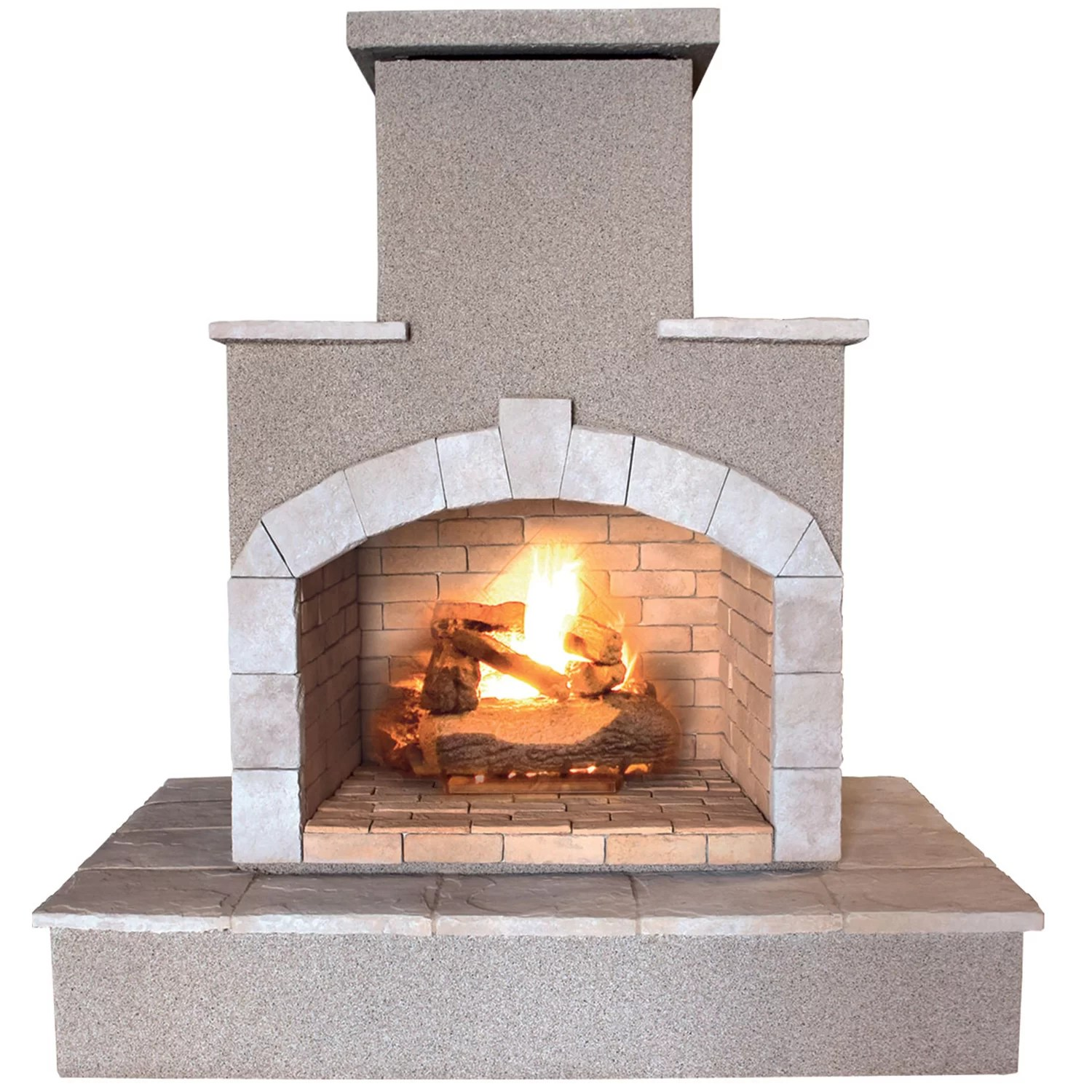 Propane Fireplace Cleaning Calflame Propane Gas Outdoor Fireplace And Reviews Wayfair