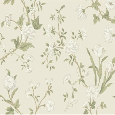 York Wallcoverings Black and White Gracie 27' x 27