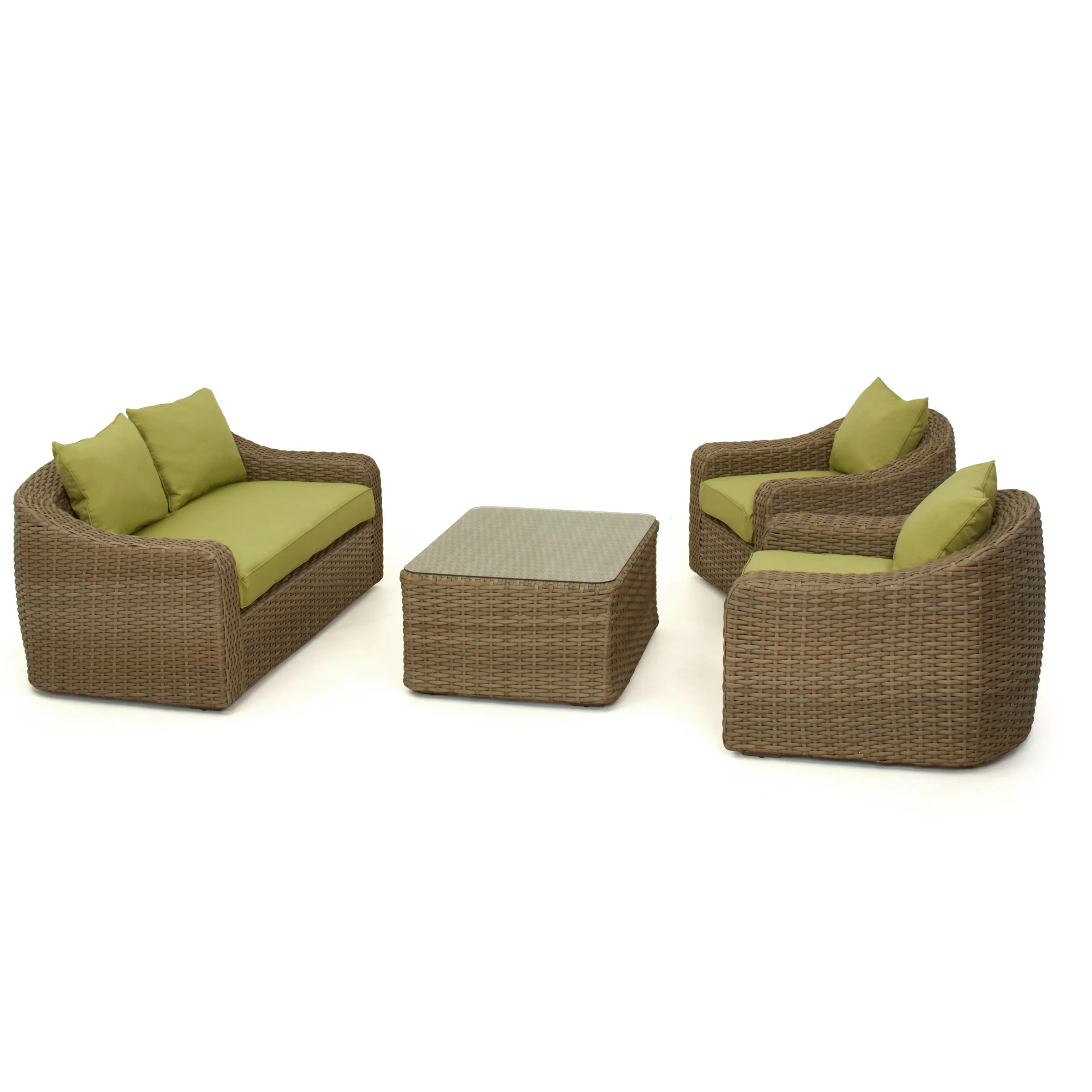 2 Seater Rattan Sofa Cushions Maze Rattan Milan 4 Seater Sofa Set With Cushions Wayfair Uk