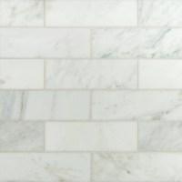 "MSI 3"" x 6"" Polished Marble Tile in Carrara White ..."