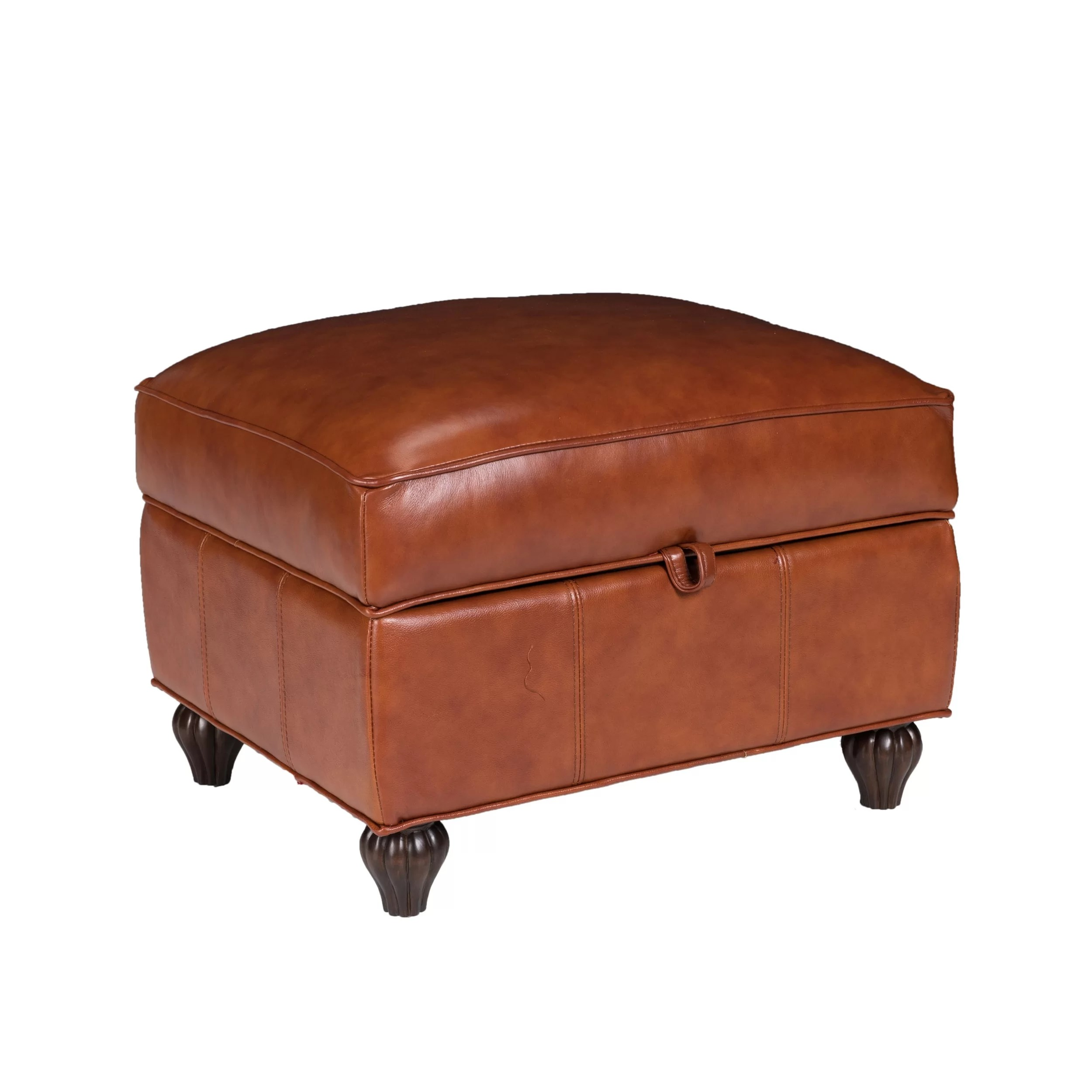 Storage Pouf Opulence Home Benjamin Leather Storage Ottoman And Reviews