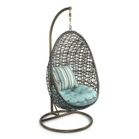 Patio Heaven Skye Bird's Nest Swing Chair with Stand