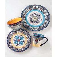 EuroCeramica Zanzibar 16 Piece Dinnerware Set & Reviews ...