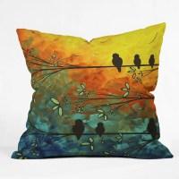 DENY Designs Madart Inc. Birds Of A Feather Throw Pillow ...
