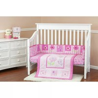 Dream On Me Butterfly and Flower 3 Piece Crib Bedding Set ...