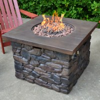Tortuga Outdoor Yosemite Faux Wood/Stone Propane Fire Pit ...