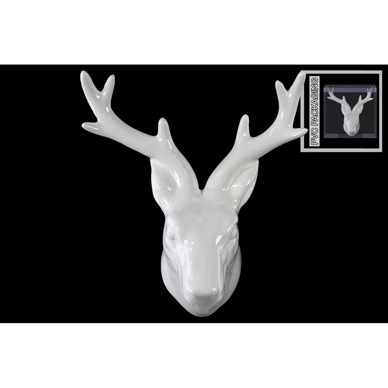 White Porcelain Deer Head Urban Trends Ceramic Deer Head Wall Decor And Reviews Wayfair