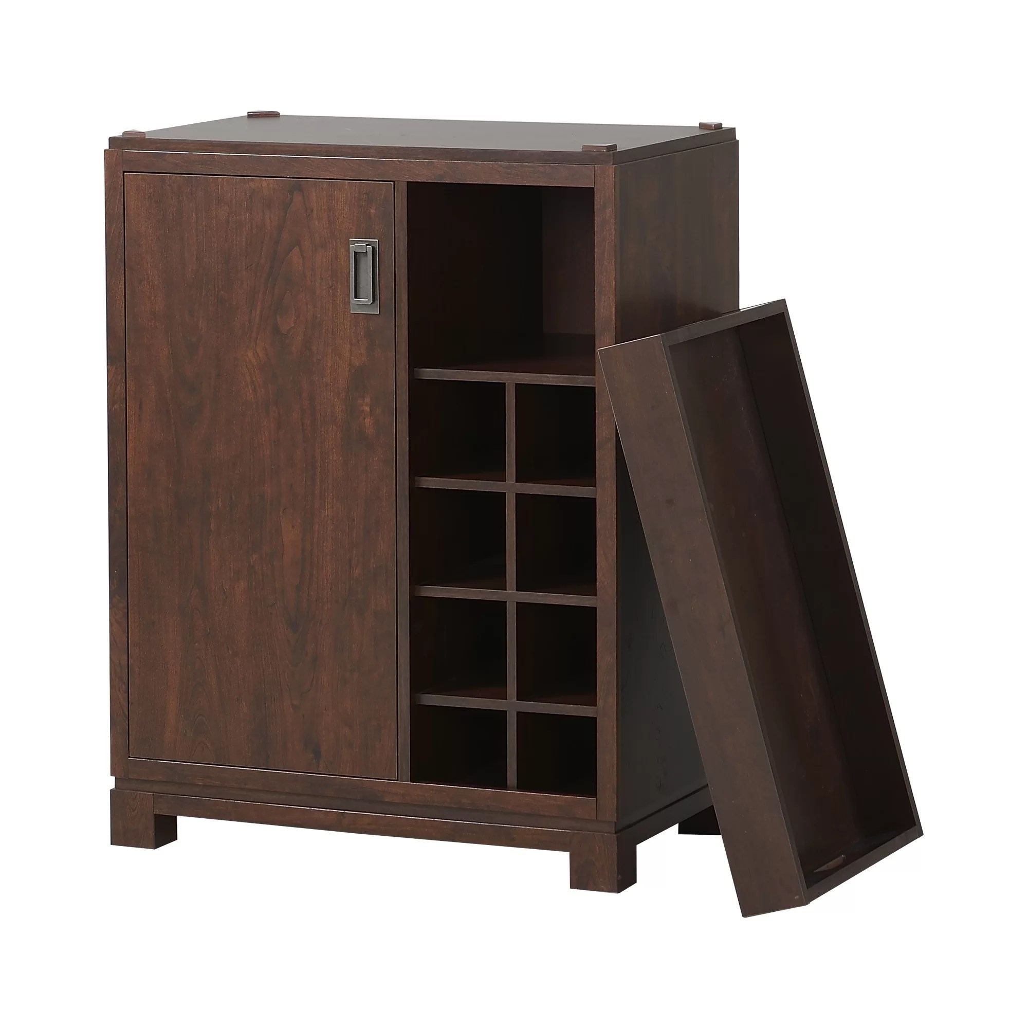 Small Wine Storage Cabinets Homestar Bar Cabinet With Wine Storage And Reviews Wayfair