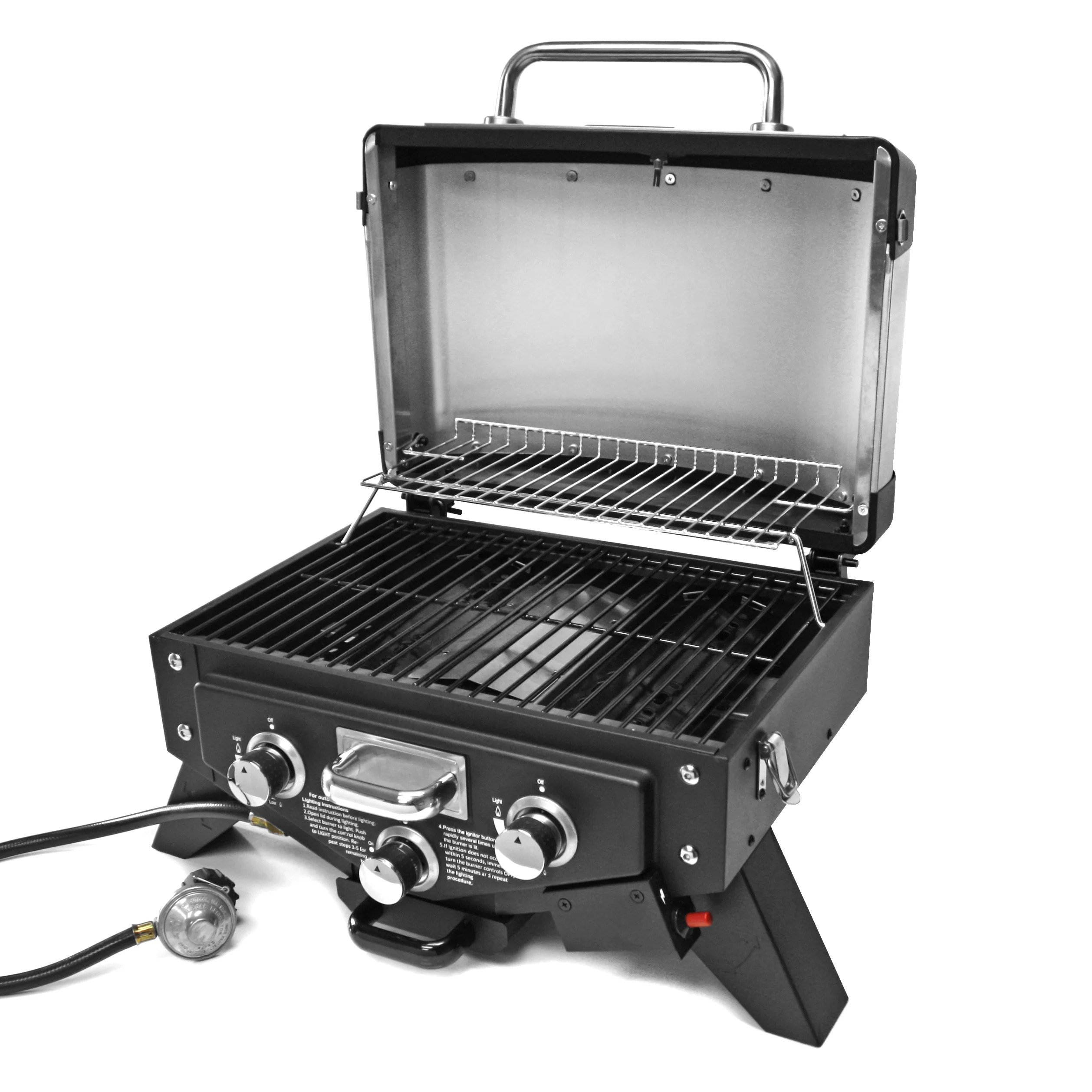 Grill Tray Vector Gas Tabletop Grill With Smoke Tray Outdoor Autos Post