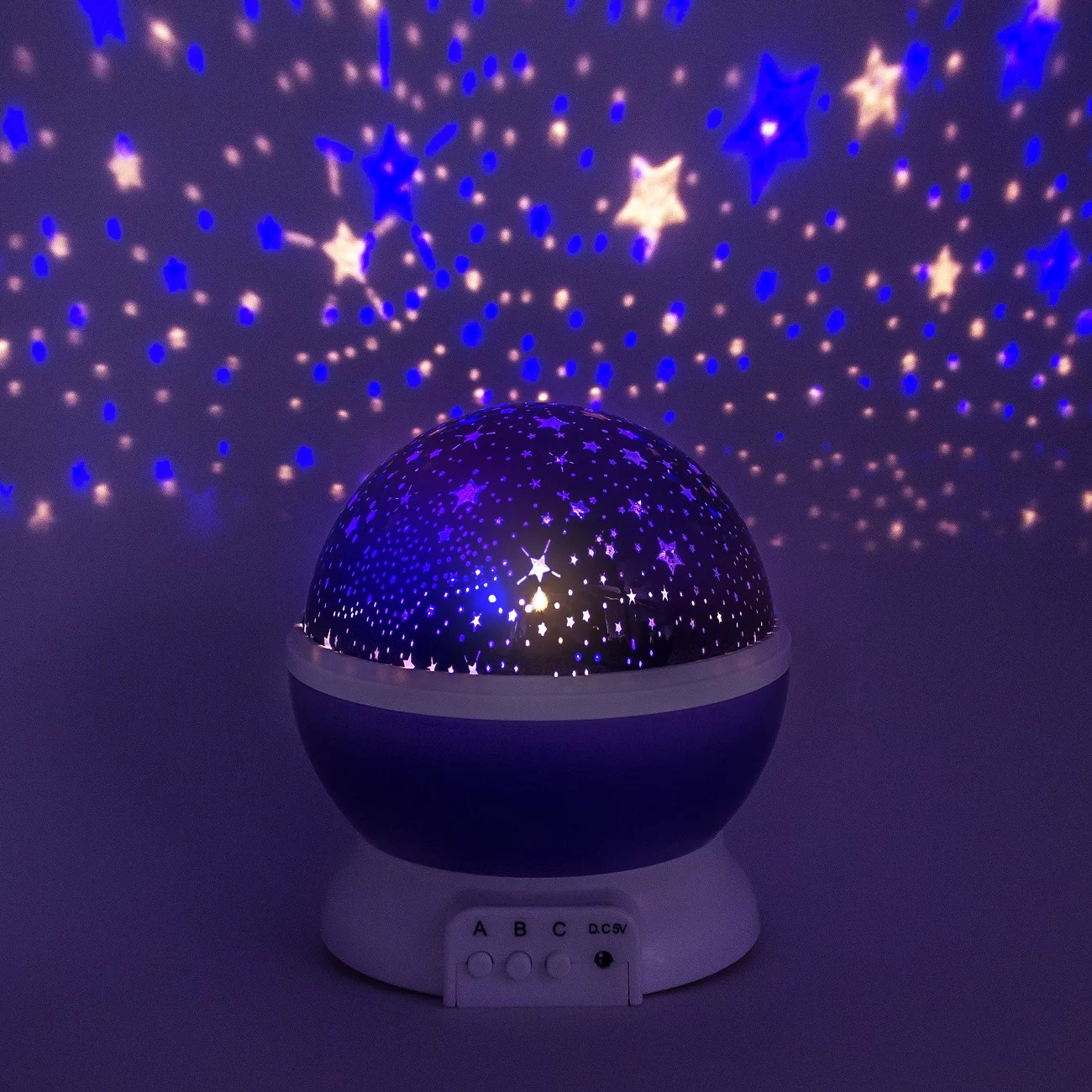 Baby Star Light Projector Ggi International Romantic Cosmos Star And Sky Moon Night