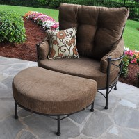 Meadowcraft Grayson Cuddle Chair and Ottoman with Cushion ...
