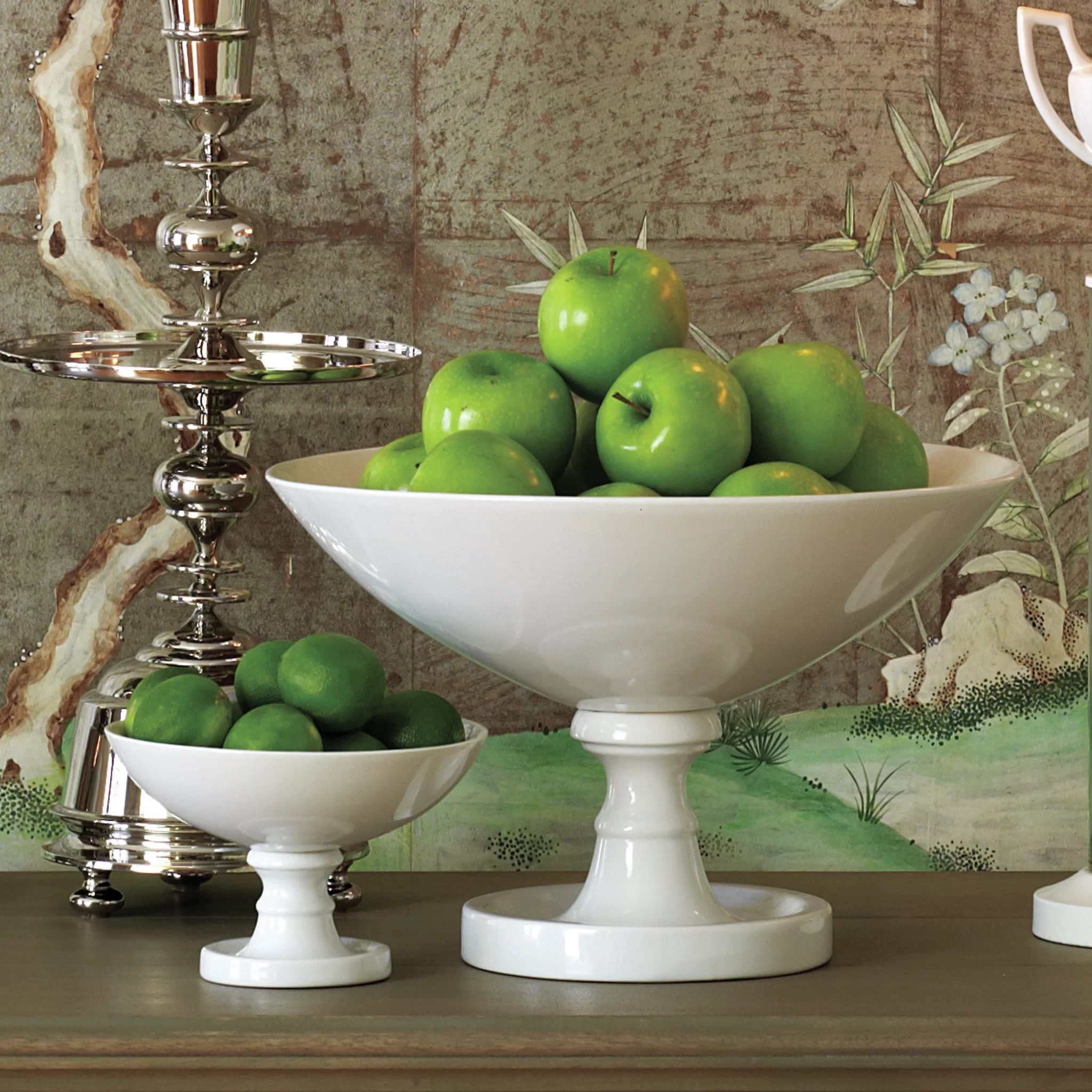 Fruit Bowl For Counter Global Views Grand Pedestal Fruit Bowl And Reviews Wayfair