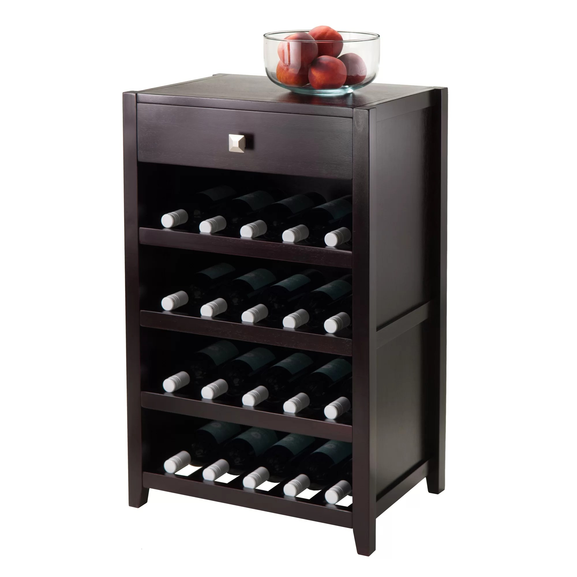In Floor Wine Storage Winsome Zillah 20 Bottle Floor Wine Rack And Reviews