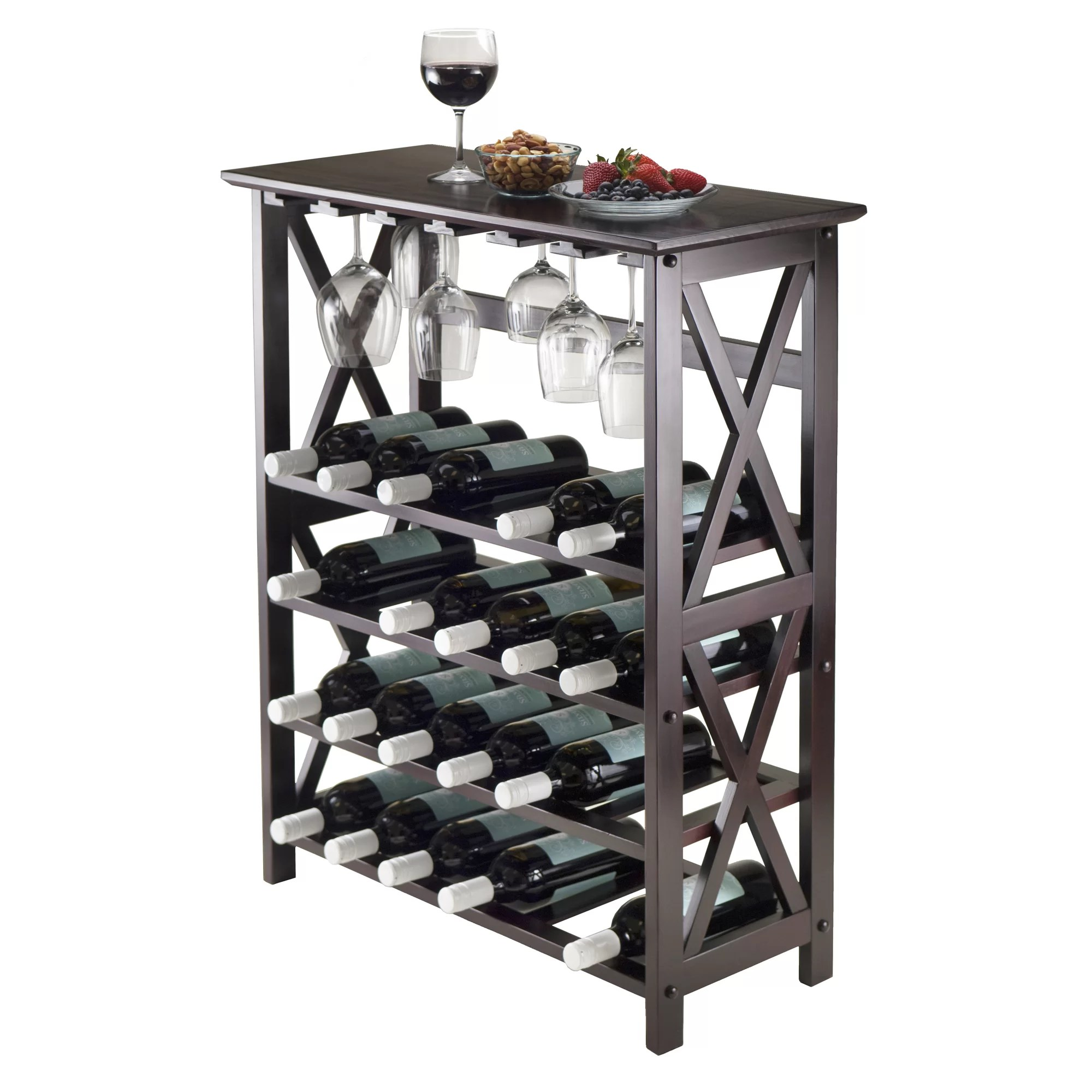 In Floor Wine Storage Winsome Rio 24 Bottle Floor Wine Rack And Reviews Wayfair