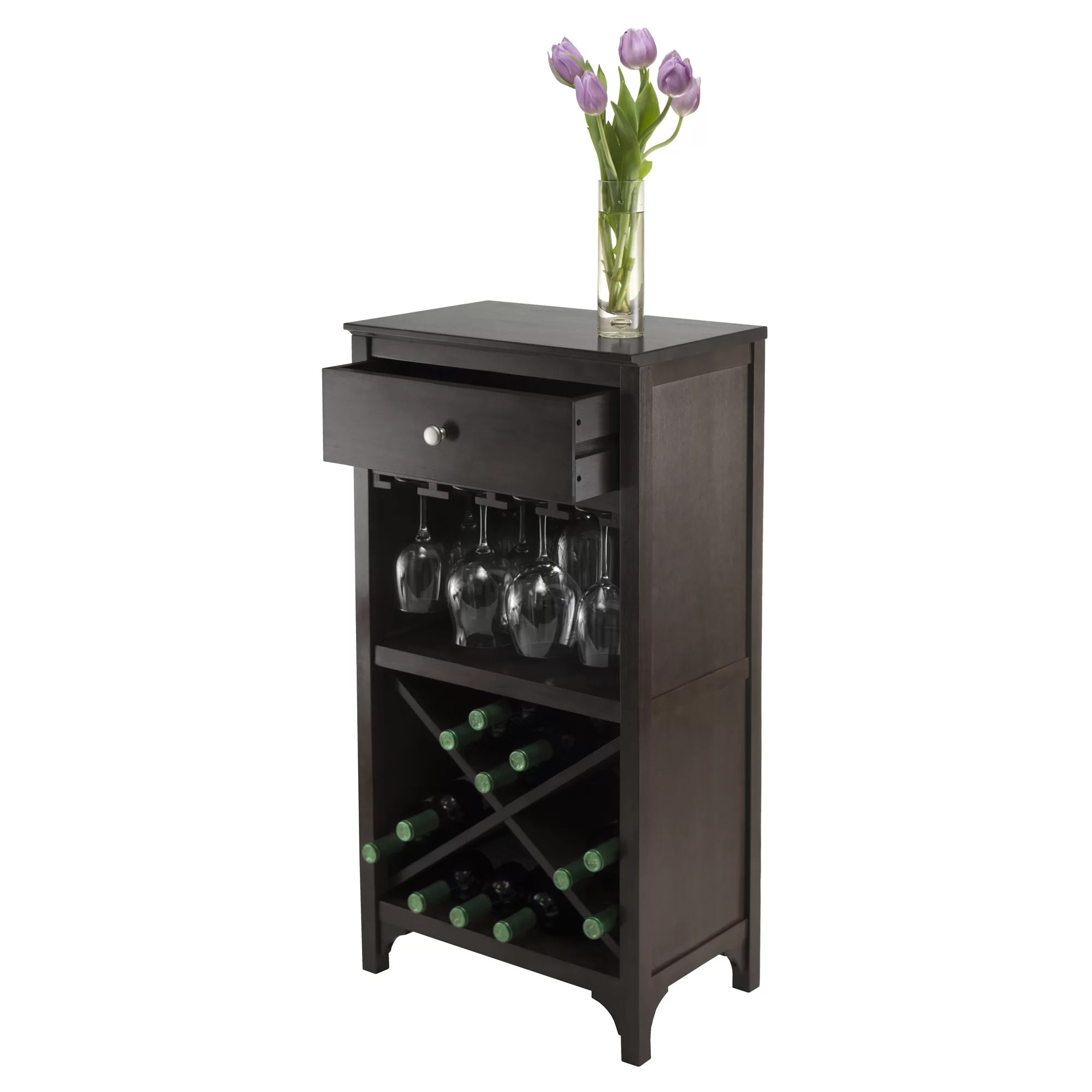 In Floor Wine Storage Winsome Ancona Modular 20 Bottle Floor Wine Rack And Reviews