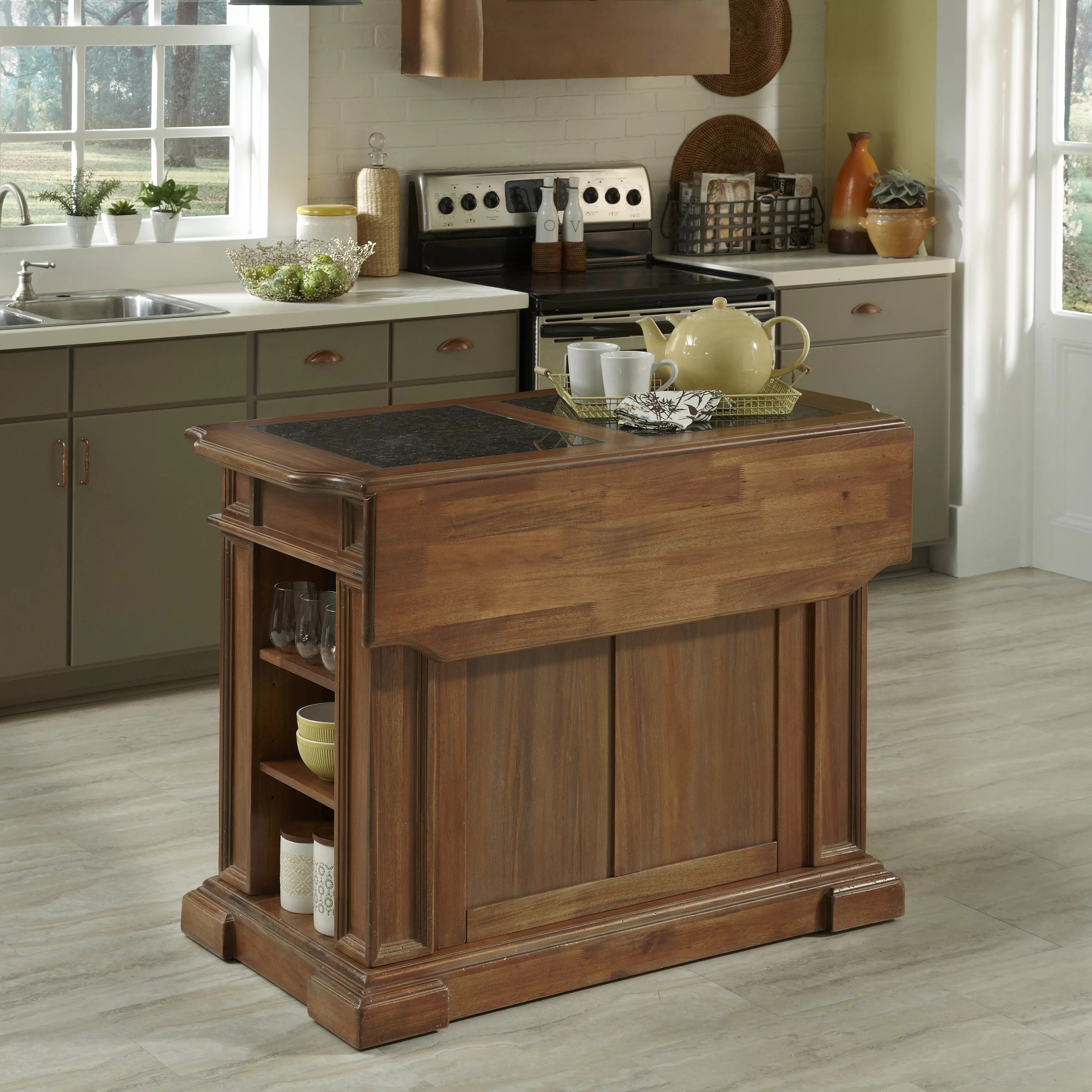 Granite Kitchen Islands Home Styles Americana Kitchen Island With Granite Top